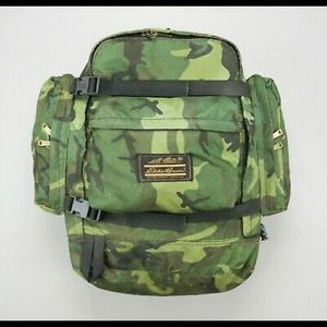 Eddie Bauer Camo Backpack Canvas Small Camping